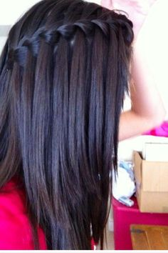 Twist braid style for medium length to long length hair