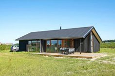 Hjorring House Denmark Prefab Cottages, Modern Barn House, Contemporary Barn, Long House, Exterior Cladding, Storey Homes, House Extensions, Stone Houses, Barns