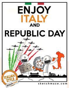 """ENJOY ITALY and REPUBLIC DAY"" #sketchmaze #enjoy #enjoyitaly #italy #italia #italianstyle #italian #madeinitaly #fun #funny #viral #meme #memes #marketing #follow #followme #love #art #travelgram #vacation #tourism #book #books #comics #sketch #sketches #fabioleonardi #maxvellucci #republicday #2june"