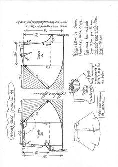 Dress Patterns, Sewing Patterns, Bermudas Shorts, Diy Fashion, Fashion Outfits, Womens Fashion, Patterned Shorts, Diagram, Clothes