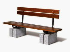 Granito Vermelho Romano: Bancos com peças de granito - Granite benches