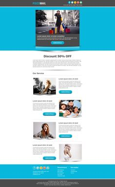 Piscesmail - Email Newsletter Template | UX: email design ...