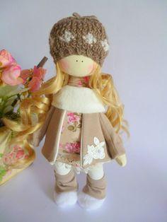 Doll tilde.Fabric Doll.Cute doll.Textile doll. Soft toy. Cloth doll. Gift Idea.Rag Doll .Home Decoration.Handmade Doll,Doll.Tilda doll  A doll