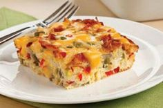 Cheesy Bacon Hash Brown Bake on Foodie
