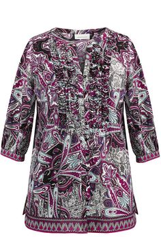 Paisley Ribbon Pleat Blouse