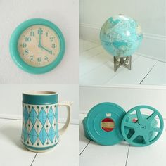 Turquoise is probably my favourite colour right now so this collection of turquoisey things tickled me silly.