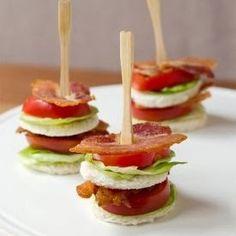 BLT Tea Sandwich, Bite-sized! #Sandwich #BLT Healthy