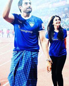 With husband Abhishek Bachchan
