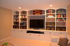 Basement Entertainment Wall Ideas on Pinterest