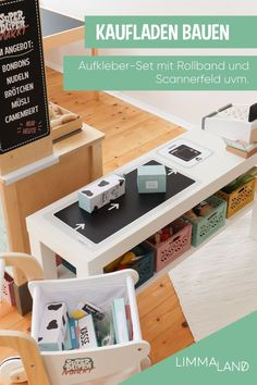 Adhesive film accessories for building an IKEA shop - Trend Industrial Furniture 2019 Baby Furniture, Kitchen Furniture, Ikea Shop, Ikea Duktig, Childrens Shop, Diy Store, Kidsroom, Industrial Furniture, Your Design
