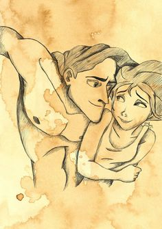Drawing of Tarzan & Jane!! <3