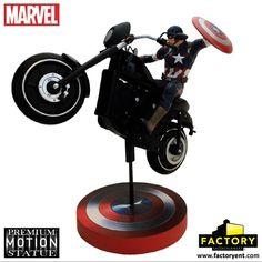 Factory Entertainment Presents: Captain America- Rides Premium Motion Statue