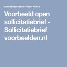 Voorbeeld open sollicitatiebrief - Sollicitatiebrief voorbeelden.nl