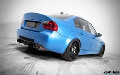 Matte Estoril Blue E90 M3 sporting the VRS Carbon Fiber Boot Lid | VRS Type II Carbon Fiber Rear