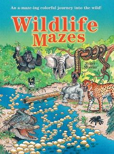 Wildlife Mazes: An A-maze-ing Colorful Journey into the Wild! by Roger Moreau, http://www.amazon.com/dp/1402715528/ref=cm_sw_r_pi_dp_kGAcrb0GRZ3VR