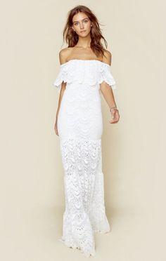 Nightcap Clothing Dresses White Dresses Positano Maxi Dress