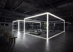 Shanghai design studio Coordination Asia has converted a Beijing art gallery into a gym and studio space for Nike Bühnen Design, Design Nike, Booth Design, Studio Design, Design Studios, Chair Design, Peking, Gym Interior, Interior Design