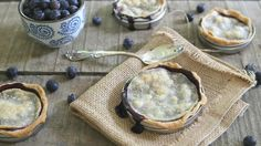 Mini blueberry pies using mason jar lids. I suggest making your own crust, it is well worth it!