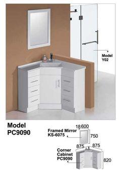 Small Corner Cabinet, Bathroom Corner Cabinet, Corner Basin, Corner Vanity, Corner Storage, Bathroom Vanity Cabinets, Bathroom Basin, Bathroom Layout, Bathroom Furniture
