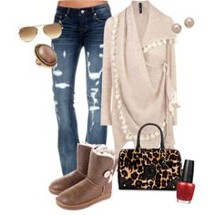 uggs and cardigan