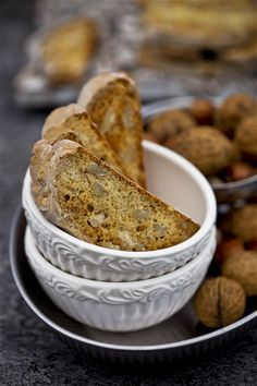 Moje Wypieki | Biscotti z syropem klonowym i orzechami pekan