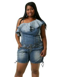 Cheap plus size dereon jeans