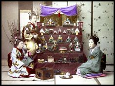 "HINA MATSURI -- ""GIRLS DAY"" CELEBRATION AND DECORATIONS in OLD JAPAN  雛人形 by Okinawa Soba, via Flickr"