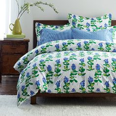 Hyannis Floral Percale Duvet Cover | The Company Store