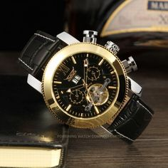 Full Gold Plated Stainless Steel Automatic Watch for Men/no battery automatic watch-Forsining Watch Company Limited www.forsining.com