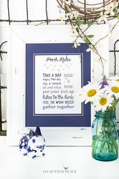 Porch Rules Free Printable | On Sutton Place