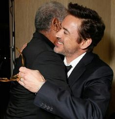 RDJ and Morgan Freeman.... Omg