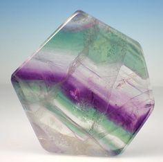 Sea Green & Violet Polished Fluorite Slab