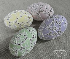 Gorgeous carved easter eggs