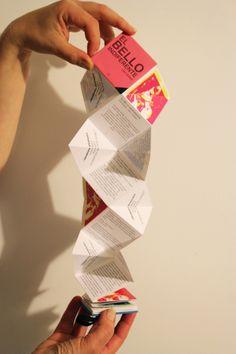 El Bello Indiferente by Isabel Margarita Retamales Figueroa, via Behance  *Libro de artista.  Crazy fold.