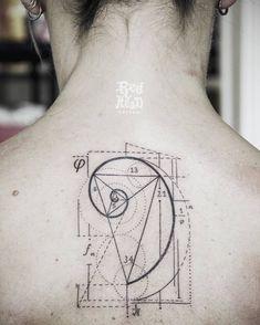 Fibonacci Tattoo by red_head_tattoo - Diy Tattoos Fibonacci Tattoo, Tatouage Fibonacci, Tatouage Yantra, Yantra Tattoo, Head Tattoos, Body Art Tattoos, Sleeve Tattoos, Tatoos, Tattoo Diy