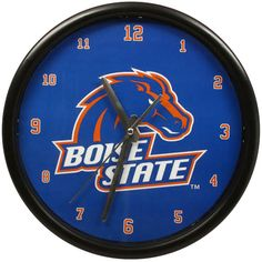 Boise State Broncos Black Rim Basic Clock - $15.99