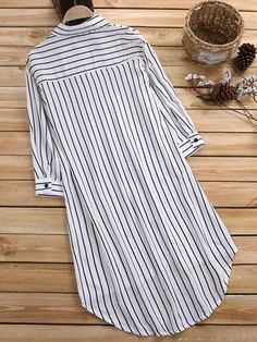 Leisure Cross Stripe Pockets Half Sleeve Women Blouse look not only special, but also they always show ladies' glamour perfectly and bring surprise. Half Sleeve Women, Half Sleeves, Look Fashion, Hijab Fashion, Fashion Outfits, Kurta Designs Women, Blouse Designs, Cheap Blouses, Blouses For Women