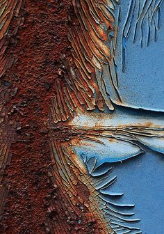 by Rust-Art-Group - Anne Courtoy Texture Sketch, Rust Paint, Wax Art, Rust In Peace, Rusty Metal, Distressed Painting, Elements Of Art, Beautiful Textures, Texture Painting