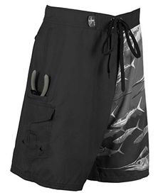 Guy Harvey Twist of Fate Boardshort  Black  Size 36 -- Offer can be found by clicking the VISIT button