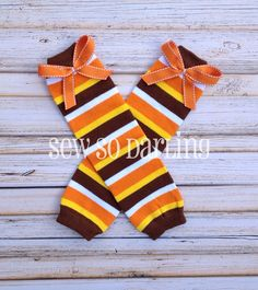 Thanksgiving leg warmers  baby leggings