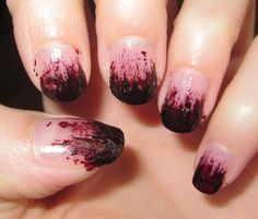 Awesome Gory Halloween Nail Polish!