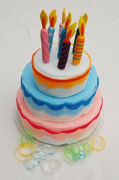 Verjaardagstaart van Vilt - Deze is echt leuk!