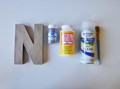Sprinkle Monogram - Materials