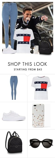 """""""Liam Payne"""" by hxrrybae ❤ liked on Polyvore featuring Topshop, Tommy Hilfiger, Vans, Kate Spade, casual, outfit, liam and payne"""