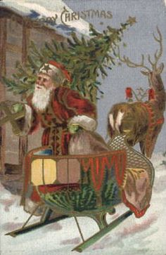 Old Christmas Post Сards — Santa Claus, 1908 Christmas Post, Old World Christmas, Christmas Scenes, Victorian Christmas, Christmas Animals, Father Christmas, Christmas Card Pictures, Santa Pictures, Vintage Christmas Images