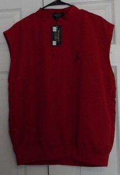 Beacon Hill Men's  Golf  Wind Vest, Red, Medium, NWT #MadeExclusivelyForBeaconHill