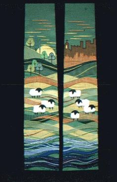I love the sheep and the hills and trees...and the sun...I love everything about this design!