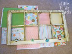 Little Birdie Secrets: altered window frame tutorial and scotch tape giveaway!