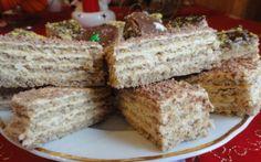 Prajitura Ileana Romanian Desserts, Romanian Food, Baking Recipes, Cookie Recipes, Dessert Recipes, Good Food, Yummy Food, Hungarian Recipes, No Bake Treats