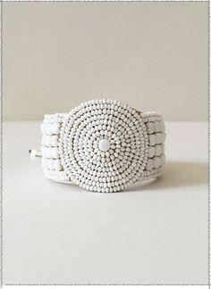 Leather Disk Bracelet